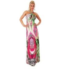30910 SD Δροσερό μάξι φόρεμα - πράσινο/ρόζ-Ροζ