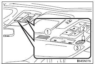 Toyota Sienna 2010-2020 Owners Manual: System components