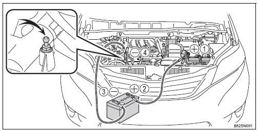 Toyota Sienna 2010-2020 Owners Manual: If the battery is