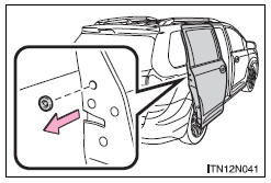 Toyota Sienna 2010-2018 Owners Manual: Sliding door child
