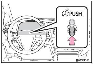 Toyota Sienna 2010-2019 Owners Manual: Meter panel light