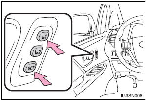 Toyota Sienna 2010-2021 Owners Manual: Driving position