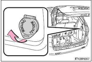 Toyota Sienna 2010-2019 Owners Manual: Power outlets