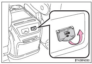 Toyota Sienna 2010-2020 Owners Manual: Power outlets