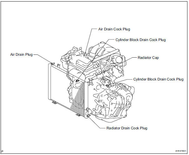toyota engine coolant drain block plug