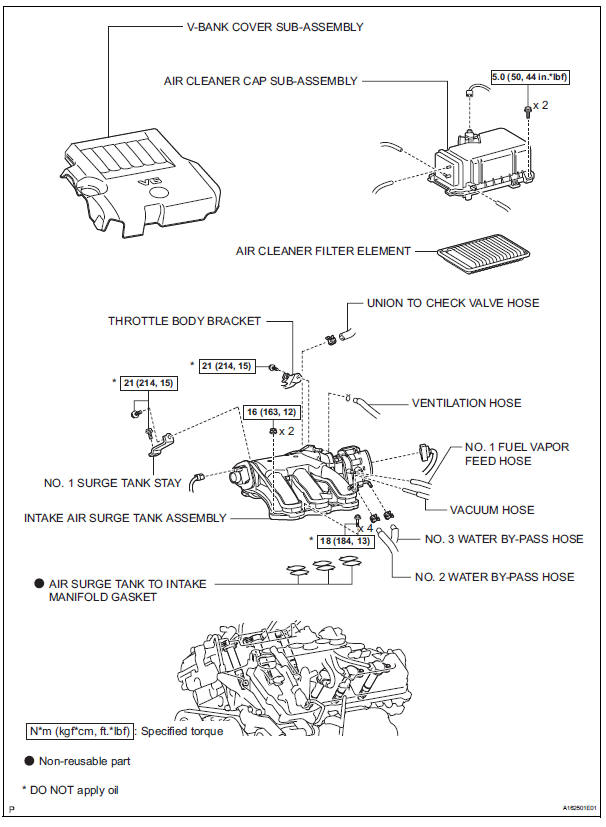 Toyota Sienna Service Manual: Ignition coil and spark plug