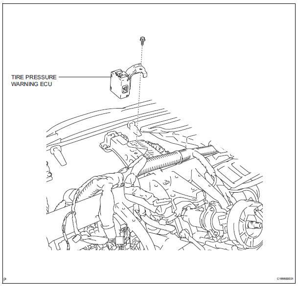 Toyota Sienna Service Manual: Tire pressure warning ecu