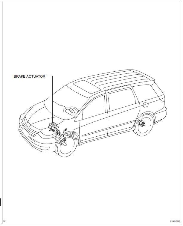 Toyota Sienna Service Manual: Brake actuator (w/o vsc