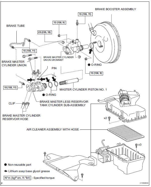 Toyota Sienna Service Manual: Brake master cylinder