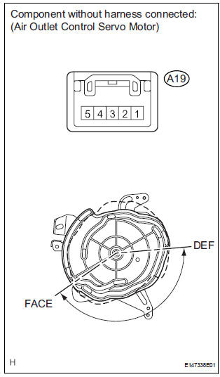 Toyota Sienna Service Manual: Air Outlet Damper Position