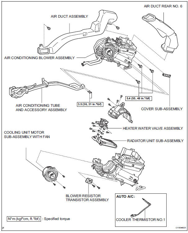 Toyota Sienna Service Manual: Blower unit (for rear air