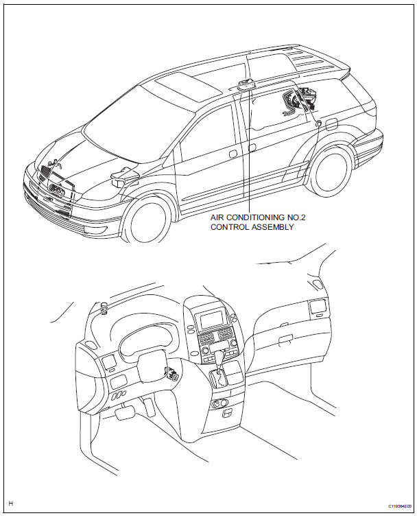 Toyota Sienna Service Manual: Air conditioning control