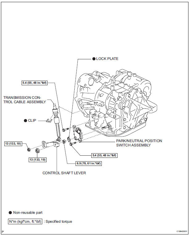 Toyota Sienna Service Manual: Park / neutral position