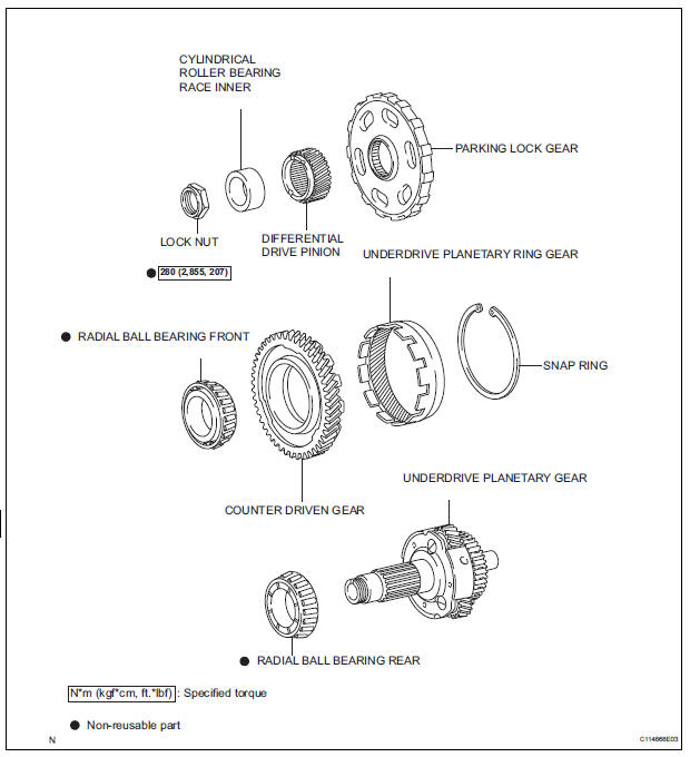 Toyota Sienna Service Manual: Underdrive planetary gear