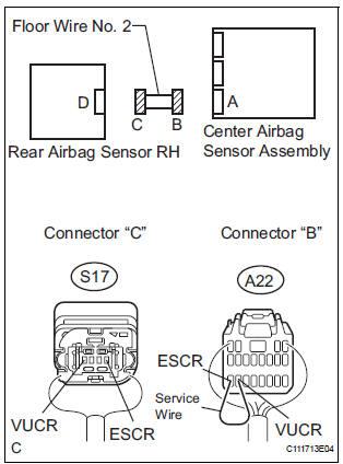Toyota Sienna Service Manual: Rear Airbag Sensor RH