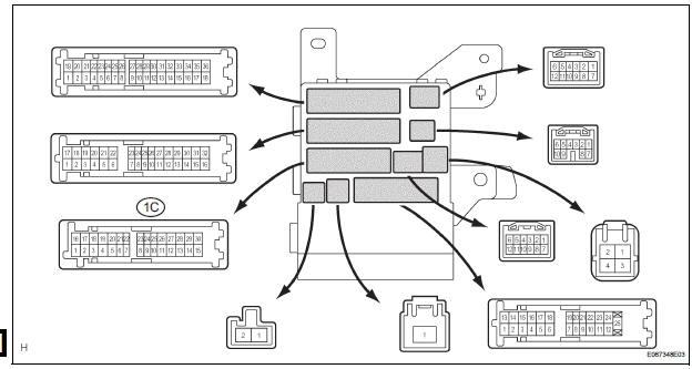Toyota Sienna Service Manual: Headlight Relay Circuit