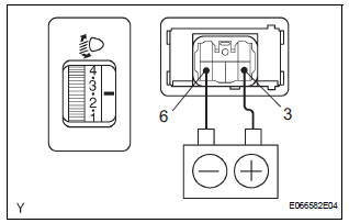 Toyota Sienna Service Manual: Headlight leveling switch