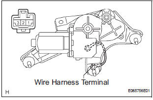 Toyota Sienna Service Manual: Rear wiper motor and bracket