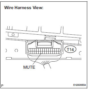 Toyota Sienna Service Manual: Mute Signal Circuit between