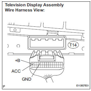 Toyota Sienna Service Manual: Television Display Power