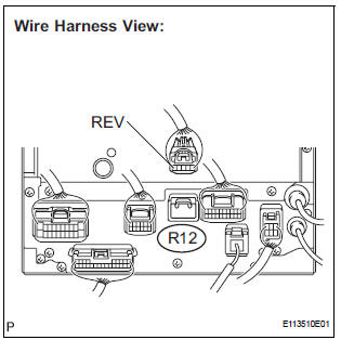 Toyota Sienna Service Manual: Reverse Signal Circuit