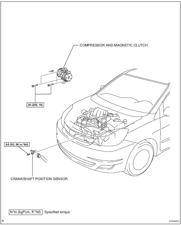 Toyota Sienna Service Manual: Crankshaft position sensor