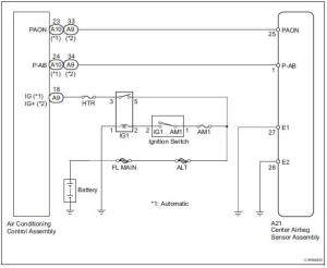 Toyota Sienna Service Manual: Passenger Airbag ONOFF