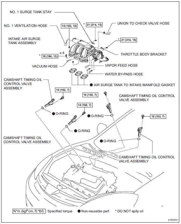 Toyota Sienna Service Manual: Сamshaft timing oil control