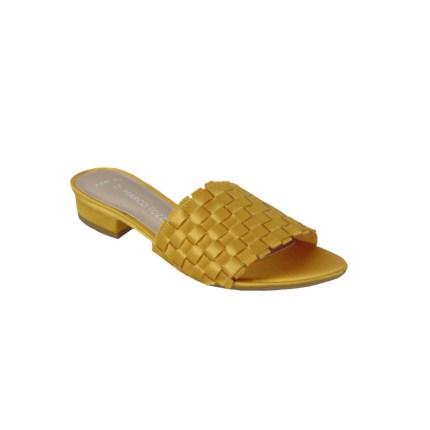 Marco Tozzi 2-27127-32 627 Γυναικεία Παντόφλα Από Τεχνοδέρμα Κίτρινη (Saffron)