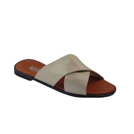 Tsimpolis Shoes T012 Παντόφλα Από Τεχνόδερμα Μπέζ