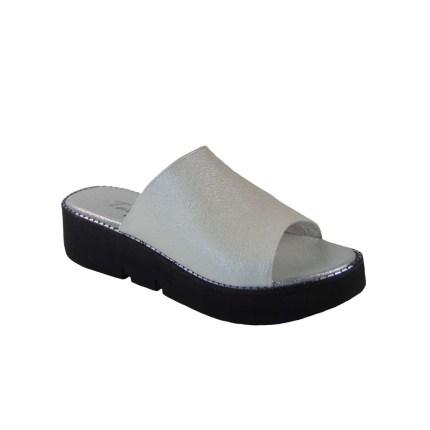 Tsimpolis Shoes 106-1 Παντόφλα Από Τεχνοδέρμα Λευκή
