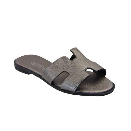 Tsimpolis Shoes T011 Παντόφλα Από Τεχνόδερμα Μπρονζέ
