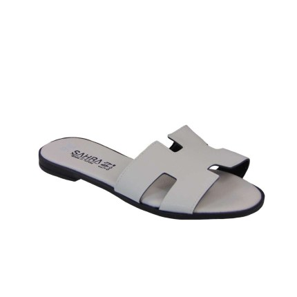 Tsimpolis Shoes T011 Παντόφλα Από Τεχνόδερμα Λευκή