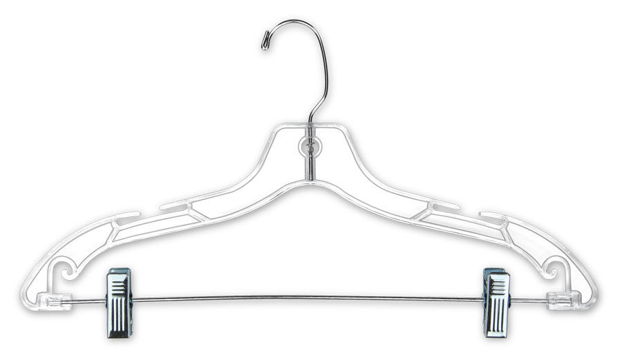 17quot Clear Plastic Suit Hangers 100 Pack Tsisuppliescom