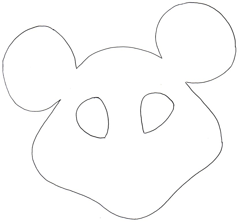Mouse Mask Template