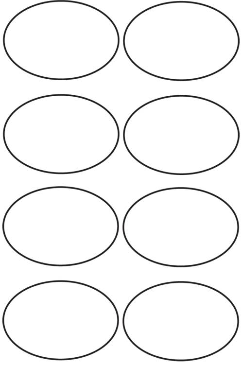 Free coloring pages of ovals