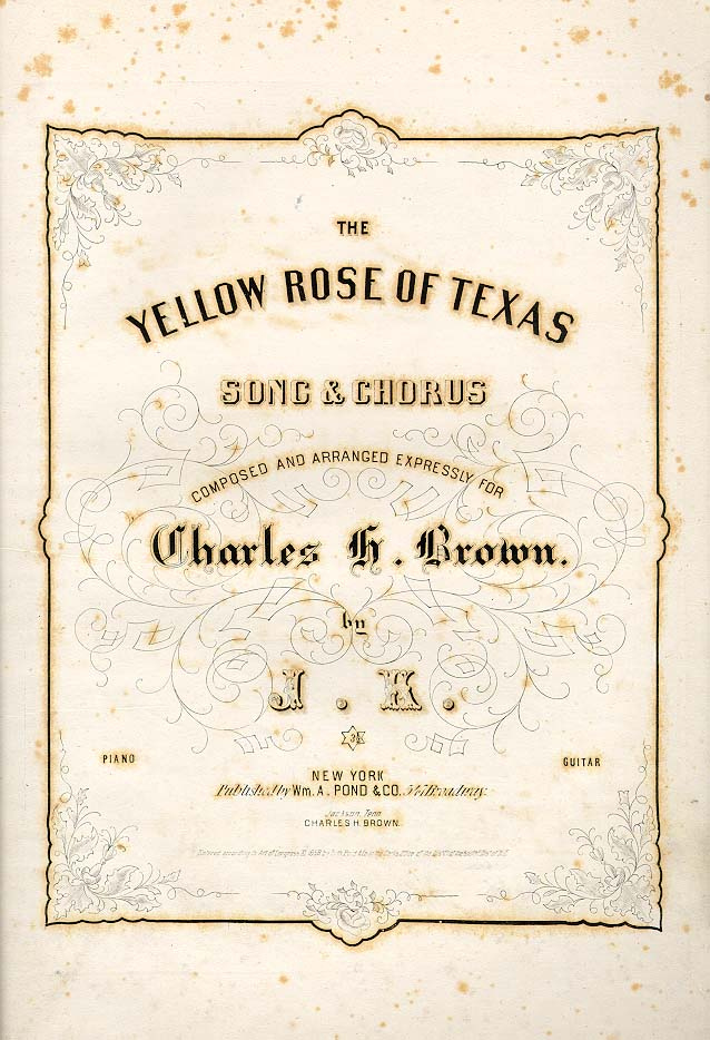 Cover for the first edition of sheet music for