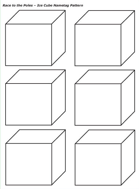 melting ice cubes coloring pages