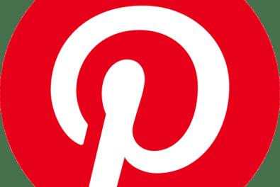 red and white pinterest logo
