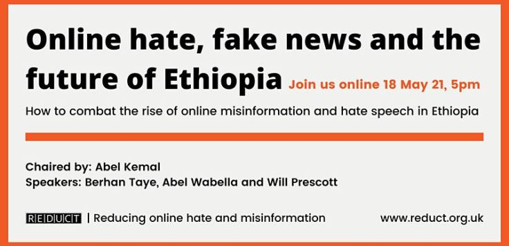 Reduct Online Hate Ethiopia Graphic