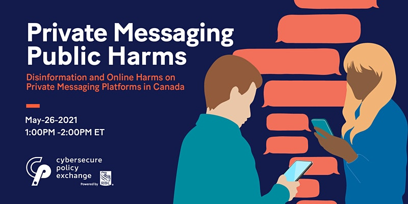 Private Messaging, Public Harms Event graphic