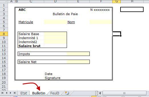 Bekannt 4- Gérer la paie avec Excel: Edition des Bulletins de paie avec  CP33