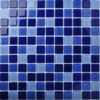 TST Crystal Glass Tiles Dark Blue Gorgeous Ocean Fashion