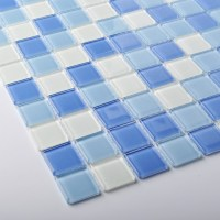 TST Crystal Glass Tiles Blue Glass Mosaic Tile Sea Glass ...