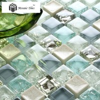 TST Crystal Glass Tile Blue Aqua Mosaic Porcelain Chips ...