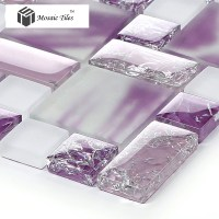TST Crystal Glass Tiles Glass Purple Glass Mosaic Tile Ice ...