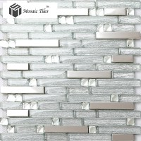 TST Crystal Glass Tile Crystal Glass Tiles silver Strip ...