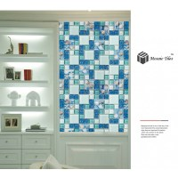 TST Glass Conch Tiles Beach style Sea Blue Glass Tile ...