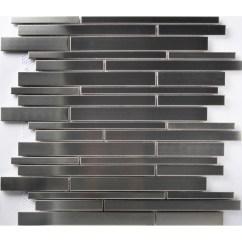 Kitchen Backsplash Patterns Electronics Tst Stainless Steel Mosaic Tile Silver Mirror Glass Tiles ...