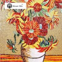 TST Mosaic Murals Sunflower Van Gogh Oil Painting Fire ...